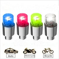 Wholesale motorcycle bike tire tyre valve - HOT Bike Bicycle Motorcycle DRL Flashing LED Tire Light Car LED Wheel Light Flashlight Tyre Tire Valve Lamp Daytime Running Light Colorful