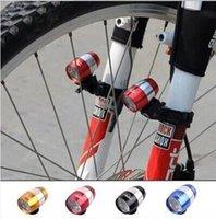 liga de garfo de bicicleta venda por atacado-Bicicleta de montanha, lâmpada de garfo dianteiro de bicicleta, farol de bicicleta de liga de alumínio, lanterna traseira, lâmpada de cerveja, 6LED equitação luz de advertência.