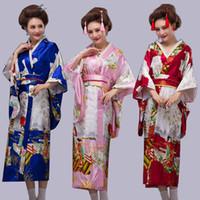 ciel cosplay féminin achat en gros de-Cos animé à manches longues, costume de scène traditionnelle japonaise, robe de kimono de style japonais lâche, robe d'été.cosplay