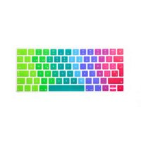Wholesale apple keyboard uk - Spanish Rainbow Keyboard Cover Silicone Skin Protector For Apple Magic Keyboard MLA22B A EU UK European Layout