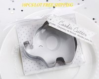 Wholesale baby favor candles for sale - Group buy Pieces baby souvenirs of Little Peanut Elephant Cookie Cutter and Elephant cake mold For baby decoration gifts