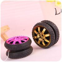 Wholesale Flashing Yoyo - New Pattern Wheel Shape Electroplating Funny Yoyo Ball Bearing String Popular Style Kids Toy Gift 0 56jc W