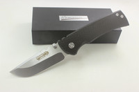 Wholesale High Carbon Pocket Knives - High Quality Samier Knives Redencion Custom Cts-xhp Steel Blade Carbon Fiber Handle Pocket Folding Knife Tactical Survival Camping Knives