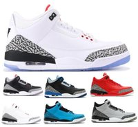 Wholesale Day Heating - Hot 3 Basketball Shoes Cement Blue NRG OG 88 Money Grateful Free Throw Line 3s Sport Tennis Trainer Mens Man Woman Athletic Sneakers