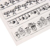 Wholesale Transparent Silicone Stamp Handwork Children Adults Decorative Clear Seal Stamp for DIY Scrapbooking Decor Silica Gel E5M1