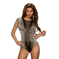 Wholesale Transparent One Piece Swimsuits - Sexy Leopard Black Mesh Transparent One Piece Swimsuit 2018 New Fashion Swimwear Slimming Fitted Bathing Suit Sexy Swimdress 919