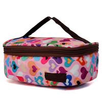 boîtes à lunch en tissu achat en gros de-Boîte à lunch grande capacité pique-nique tissu Oxford déjeuner boîte pour sac de pique-nique de randonnée en plein air de camping