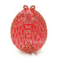 sac de soirée perlé rouge achat en gros de-