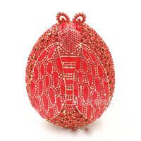 ingrosso frizioni di sera giallo-rosa / rosso / giallo / verde Strass donne borsa da sera perline diamanti Ladies Party borsa femminile piccole frizioni di giorno frizioni borse a spalla