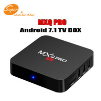 android tv mx2 großhandel-Fabrik-Verkauf Soem MX2 MXQ PRO 4K RK3229 Viererkabel-Kern Android 7.1 Fernsehkasten mit kundengebundenem 17.5 4K Media Player Besserer TX3 X96 MINI S905W