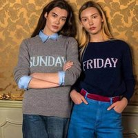 Wholesale Cheap Long Sleeve Pullover Sweater - Cheap Fashion Week Women Sweater Chic Knitting Jumper Monday Tuesday Wednesday Thursday Friday Saturday Sunday Runway Pullover