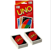 Wholesale manual toys - UNO Card Standard Edition UNO Playing Cards 5.6*8.8CM Family Fun Playing Cards Gift Box English Manual Christmas Gifts Toys 2507017
