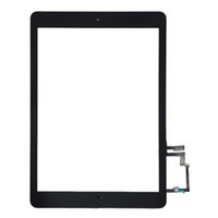 Wholesale ipad adhesive black - 20PCS (Tested) Black For iPad 5 iPad air Touch Screen Digitizer Panel Outer Glass Sensor with Home Button With Adhesive Sticker DHL Free