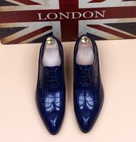 ingrosso scarpe da snakeskin scarpe uomo-scarpe da uomo Masculino uomo intaglio Snakeskin grano designer uomo affari scarpe zapatos de novio formato: 6-10 538