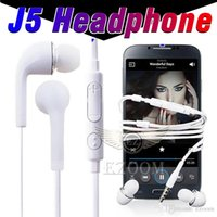 Wholesale Headphones Without Wires - J5 In-ear 3.5MM Earphone Stereo Headset Headphone With Wire Remote Volume Control Microphone Earbud For Samsung s4 s6 s8 Without package