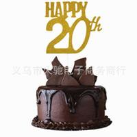 costume feliz aniversário venda por atacado-20o topper feliz do bolo de aniversário, topper conhecido do bolo, 20o topper original, 20o topper personalizado do aniversário