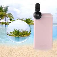 lentes usadas venda por atacado-VBESTLIFE New 235 graus lente do telefone lente Fisheye com Clip Uso para a Maioria Do Telefone Móvel Universal