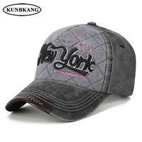 нью-йоркские шляпы оптовых-100% хлопок промывают бейсболка мужчины NY Denim Snapback папа шляпа Женщины Повседневная кость Casquette вышивка письмо Нью-Йорк хип-хоп Cap