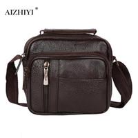 4cc4cc4945c4 PU Leather Men Messenger Bag Vintage Mens Handbag Man Crossbody Bag for Men  Business Handbag Travel Shoulder Designers Brand