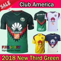 Wholesale wholesale jersey s america - New Arrived 2018 LIGA MX Club America Third Green Soccer Jersey Home Away Yellow 17 18 19 SAMBUEZA Camisetas O.Peralta football shirts
