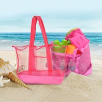 Wholesale treasures toys for sale - Children Beach Bag Folding Mesh Tote Pink Treasures Toy Shells Storage Pouch Outdoor Portable New Arrive kj C
