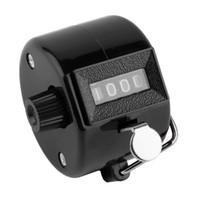 tally zähler ziffer nummer clicker golf großhandel-4-stellige tragbare bequeme Kunststoff + Metall Hand Tally Counter manuelle Palm Clicker Anzahl zu zählen Golf