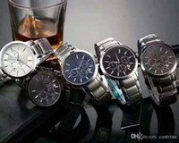 saatler toptan satış-Sıcak Satış En lüks Yeni AR2434 AR2448 AR2454 AR2453 Paslanmaz Çelik Klasik Erkek Kol Erkekler İzle Orijinal Kutusu Bırak Gemi