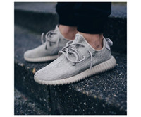 Wholesale Snakers Shoes - 2018 with box best quality shoes 350 V2 Moonrock Oxford Tan Pirate Black Running shoes snakers with receipt