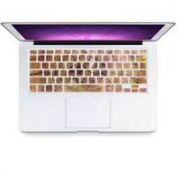 Wholesale laptop keyboard protective - 2 in 1 wood laptop body shell protective hard case and keyboard skin for macbook hard case 13 15 17