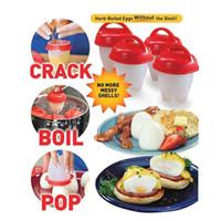 Wholesale Hard Boiled - Egglettes Maker Egg Cooker Silicone Hard Boiled Eggs without the Shell Egglette Opp Bag 6pcs set