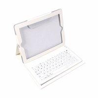 estuche plegable para teclado al por mayor-Envío gratuito 2 en 1 USB Teclado Bluetooth + Funda protectora de cuero plegable Soporte PU Funda de cuero para iPad 2 3 4