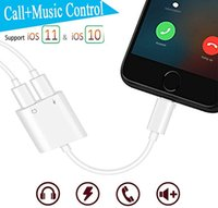 Wholesale Double Jack - Double Jack Audio Adapter for iPhone 7 8 X Suppore iOS 11 Charging Music or Call For Headphone Audio Adapter Converter