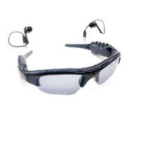 reproductor de mp3 cámara grabadora de video al por mayor-Mini cámara multifuncional para gafas de sol con reproductor de música MP3 Gafas de sol portátiles MINI DV DVR Grabador de video digital de gafas de sol