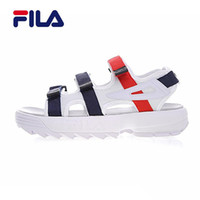 Wholesale Hot Original Fila II men women Summer Sandals black white red Anti slipping Quick drying Outdoor slippers Soft Water Shoes Beach Sandals