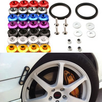 Wholesale Universal Car Fender - Free Shipping JDM Style Aluminum Bumper Quick Release Fasteners Fender Washers For Honda Civic Integra And Universal Car