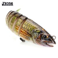Wholesale soft swim bait - cm g Fishing Lures Hard Bait Wobbler Bait Segments Artificial Baits Swim Bait Triple Anchor Hook Fishing Tackle