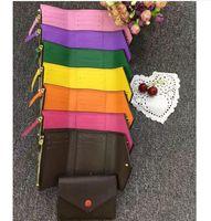 kutu tarihi toptan satış-Toptan en kaliteli kadın orijinal kutusu lüks gerçek deri renkli tarih kodu kısa cüzdan Kart sahibinin klasik fermuar cep Victorine