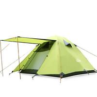 ingrosso tende gonfiabili campeggio familiare-Tenda di campeggio gonfiabile della tenda della tenda di campeggio di 3 persone di stile di vendita 2018 per la tenda di famiglia impermeabile di doppio strato di campeggio all'aperto