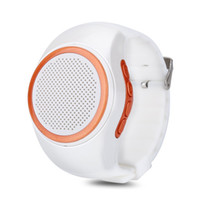 Wholesale portable media speakers - Portable Mini Wireless Bluetooth 4.0 Watch Speaker Mini Handsfree On-wrist Watch Style Music Media Player