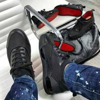 sport bas großhandel-[Mehr] Super Qualité Rouge Semelles De Luxe Rouge Sneakers von Bas Hommes Aurelien Plat Chaussures De Sport Geunine En Cuir TRAINERS 38-46