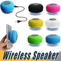 Wholesale Bluetooth Sucker - Portable Wireless Shower Car Sucker Waterproof Speaker Handsfree Receive Call IPX4 Speakers Box Player Mic Promotion