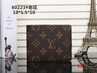 Wholesale Vintage Ostrich Purse - 2018 Male luxury wallet Casual Short designer Card holder pocket Fashion Purse wallets for men wallets purse with tags free shipping #001