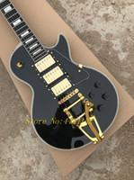 gitarlar tremolo china toptan satış-YENI Özel 1957 3 Pickup Siyah Elektro Gitar altın tremolo sistemi Ile Elektrik Gitar çin'den toptan gitar