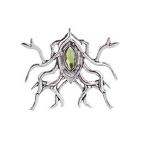 Wholesale unique insects - 2018 Thranduil Spider Brooch Punk Jewelry European and American Film The Hobbit Lord of the Rings Unique Gift MenGem Insect BroochZJ-0903224