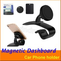 Wholesale dashboard magnetic phone holder online – Universal Magnetic Car Dashboard Cell Phone GPS Car Windshield Mount Holder for tablet Samsung S8 note8 iphone X i8 With Adhesive retail box