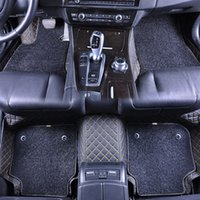 Wholesale Car Foot Mats - Custom fit double layer car floor mats double-deck foot mats leather mats Non-slip carpet car mat for BMW E93 M3 MINI all models