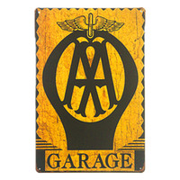 Wholesale chic cars resale online - Vintage Shabby chic Metal Tin Signs Garage Car Full Service Gas Station Rustic Wall Plaque Garage Bar Wall Decoration
