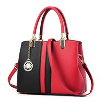 Wholesale ladies hand bag lock for sale - PU Totes Bag Women Fashion Hit the color package Waterproof Line Women s Hand Held Diagonal Lady Cross Body New Female Shoulder Bags