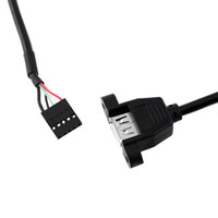 usb dişi pimler toptan satış-Anakart 5 Pin USB Dişi Kablo Adaptör Uzatma Kablosu