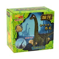 Wholesale Lay Egg - Dinosaur toys, electric light projection walk will lay eggs dinosaur Brachiosaurus Long-necked boys like electronic toys gift